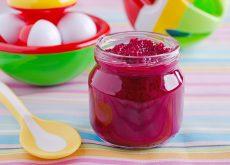 Piure de sfecla rosie si cartof dulce pentru bebelusi