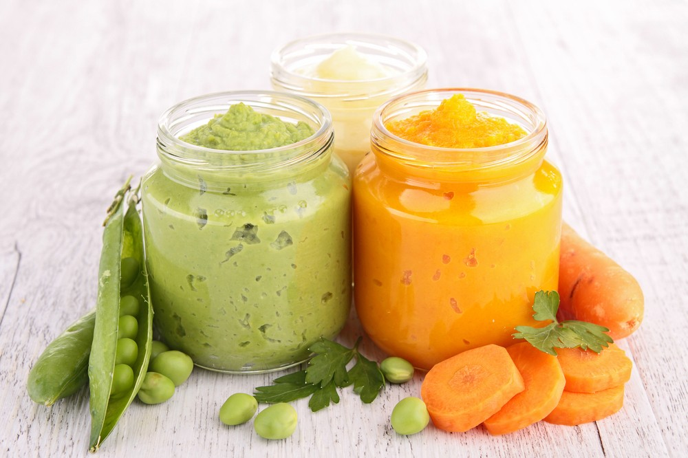 Piure de mazăre si piure de morcov pentru bebelusi