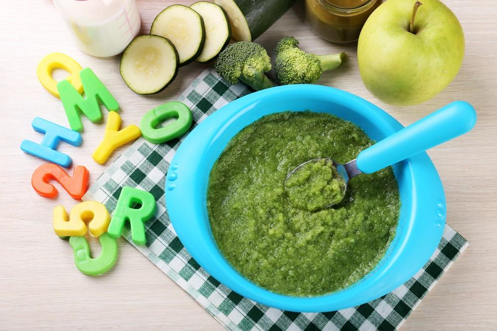Piure de broccoli si dovlecel pentru bebelusi